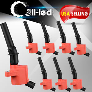 Set Of 8 Ignition Coils For Ford Expedition F150 E150 Crown Victoria 4 6l Fd503