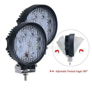 27w 5inch Spot Round Led Work Light Offroad Fog Driving Drl Suv Atv Truck 4wd