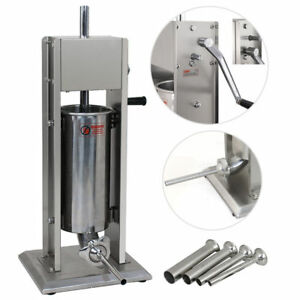 5l Vertical Commercial Sausage Stuffer 11lb Two Speed Stainless Steel Meat Press
