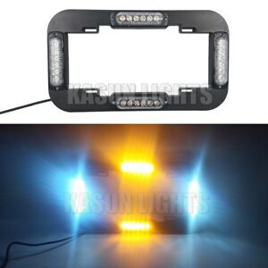 13 6 24 Led Number License Plate Lamp Flash Warning Strobe Light Amber