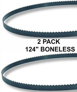 124x5 8x3tpi 2 Pack Boneless Bandsaw Blades Meat Cutting Fits Biro 3334 New
