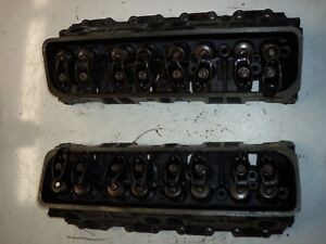 Chevy Small Block 305 Cast Iron Heads Gm Oem Casting 14101081