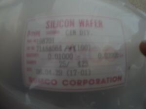 25 Silicon Wafer P type 150mm 100 Sumco
