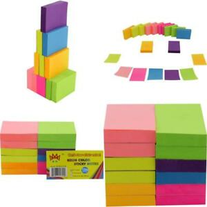 Post it Neon Color Sticky Notes Pop Up Memo Reminder 12 Pads 100 Sheets 1 1 2x2