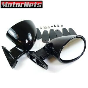 California Style Universal Side Rear View Mirrors Chevy Ford Chrysler 350 454