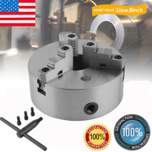 8 8 Inch 3 Jaw Self Centering Lathe Chuck Front Mount In Prime Quality Hot