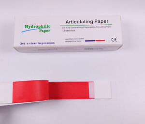 Dental Articulating Paper Red Thick For Porcelain Denture Teeth 1800sheets