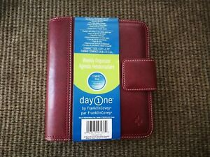 Franklin Covey Simulated Leather Weekly Planner Organizer Compact Size Day One