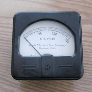 Vintage Beede Electrical Instrument Co Penacook Nh 150 V D c Volt Panel Gauge