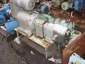 1 5 Waukesha Stainless Steel Positive Displacement Pump Model 250