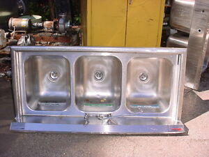 3 Bay Stainless Steel Sink 59 Long