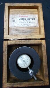 Starrett Vibrometer In Wooden Box No 192