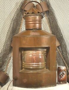 J Rhode German Vintage Port Ship Lantern