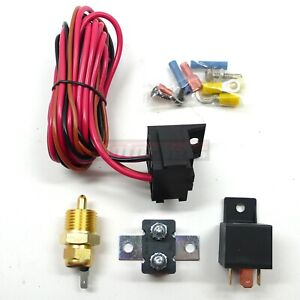 Electric Fan Wiring Install Kit Complete Thermostat 50 Amp Relay 185 170 sbc Bbc