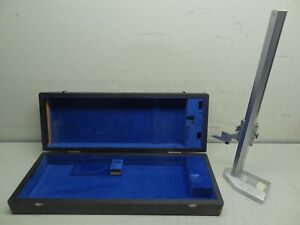 Mueller Gages Co H g 18 Height Gage 20 51cm Imperial Metric W Original Case