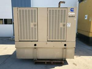 __50 Kw Cummins Onan Generator Set Base Fuel Tank 12 Lead Reconnectable Lo