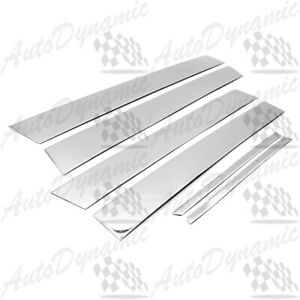 For 2012 2013 2014 Toyota Camry Chrome B Pillar 6pcs Pillar Post Stainless Steel
