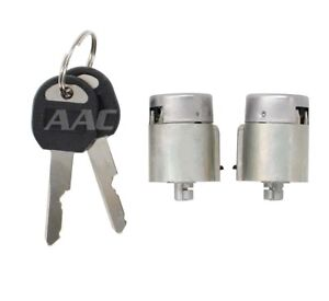Pair Of 2 Door Lock Cylinder Set For Chevy Chevrolet C1500 Truck K1500 K2500