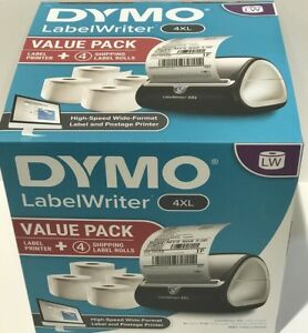 Dymo Thermal Printer Labelwriter 4xl Value Pack With 4 Shipping Label Rolls New