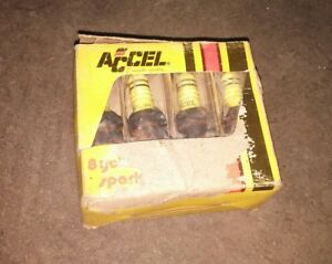 241172 Accel Yellow Jacket Spark Plugs Nos Plugs Set Of 8