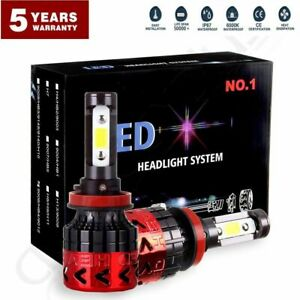 2018 H11 Led Headlight Xenon White 6000k 640w 768000lm Kit Bulbs High Power