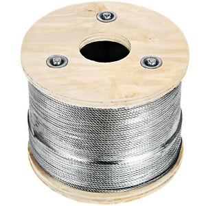T316 Stainless Steel Cable 1 8inch 7x7 Steel Wire Rope Cable 500ft Cable Railing
