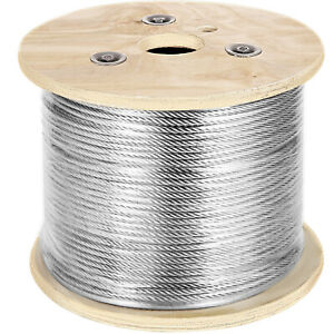 7 X 19 Stainless Steel Cable Wire Rope 3 16 500 Ft Winch Stainless Steel Cable