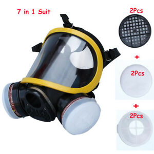 7 In 1 Safety Anti dust Painting Spray Pesticide Silicone Gas Mask Respirator