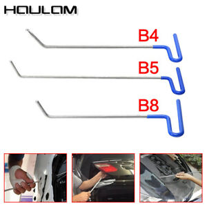 Set 3pc Auto Body Dent Removal Pdr Rod Tools Kit Hail And Door Ding Repair