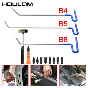 Set 3pc Auto Body Dent Removal Car Rod Tools Paintless Repair Hammer 9 Heads