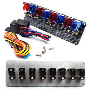12v Auto Racing Engine Start Push Button Toggle Ignition Switch Panel Relay Kit