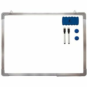 Whiteboard Magnetic Set Dry Erase Board 24 18 Eraser Dry erase Black Marker For