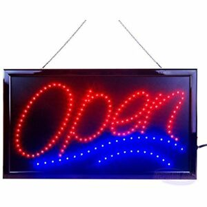 Large Store Signs Led Open For Business Displays Jumbo Electric Light Up Modes