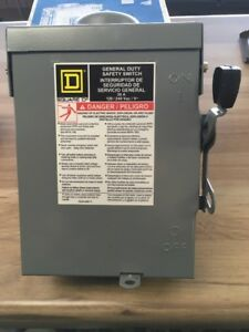 Square D 30 Amp Disconnect D211nrbcp New In Box 52160