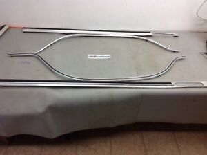 1973 1979 Ford Truck F250 F350 Super Cab Chrome Trim Race Track W clips 8ft Bed