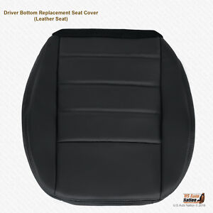 2008 2009 2010 Dodge Charger Stx Driver Bottom Leather Seat Cover Dark Gray