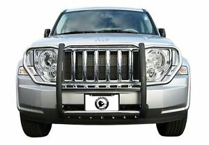 Black Horse 2008 2013 Jeep Liberty Stainless Grille Brush Guard 17a086400ss