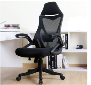 High Back Mesh Office Chair With Adjustable Armrest Lumbar Support And Headrest