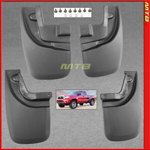 Splash Guards Front Rear 2005 2015 Toyota Tacoma Mud Flaps Complete Set Combo