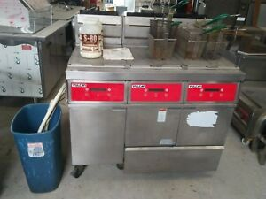 Vulcan 3grd45f Gas Triple Deep Fryer With Oil Filtration System