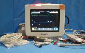 Philips Mp5 M8105a Touchscreen Color Monitor Complete With Patient Cables