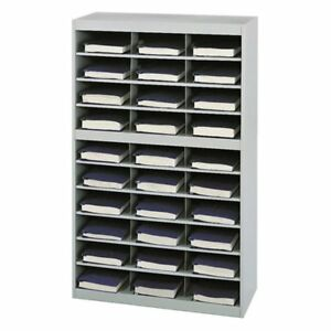 Safco 9274gr E z Stor Steel Project Organizer With 30 Compartments Gray