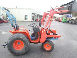 1990 Kioti Lb1914 Tractor Loader 20hp Diesel 4x4 Used Compact Only 570 Hrs