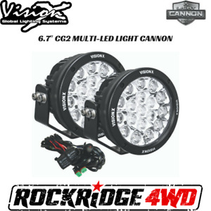 Vision X 6 7 Cg2 Multi Led Light Cannon Gen 2 Pair W Harness