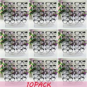 10x Acrylic Clear Display Retail Show Stand Holder Rack For Glasses Sunglasses X