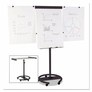 Mastervision Mobile Magnetic Dry Erase Easel White