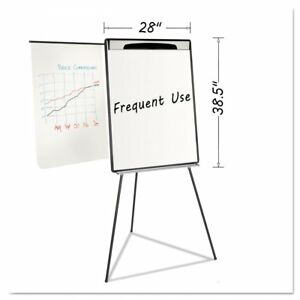 Mastervision Magnetic Gold Ultra Dry Erase Tripod Easel Black
