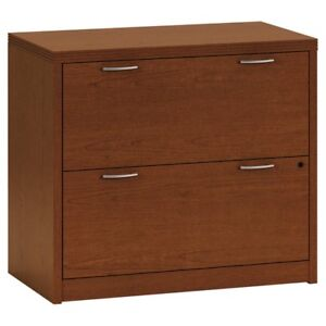 Hon Valido 11500 Series 2 Drawer Lateral File Cabinet Bourbon Cherry Bourbon