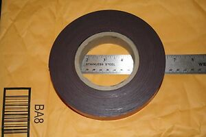 Flexible Magnet Strip With Red Vinyl Coating 1 32 Thick 1 Height 50 Feet