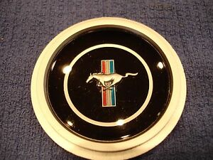 70 71 72 73 Mustang 3 Spoke Steering Wheel Emblem Rimblow Rim Blow Free Ship